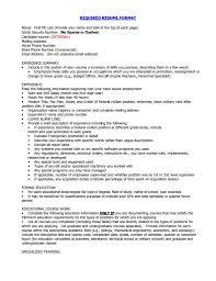 Proper Format Of Resume Lcysne Com