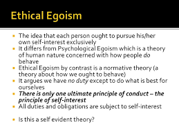 ethical egoism