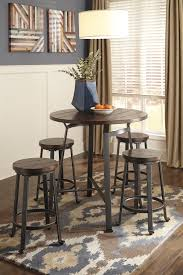 Industrial Style Round Dining Table Industrial Style Round Dining Room Counter Table By Signature