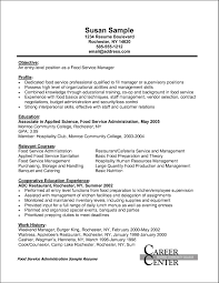 Awesome Collection Of Sample Resume Food Service Wonderful Food