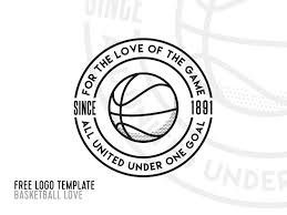 basketball logo template free template ian barnard on free psd photo templates