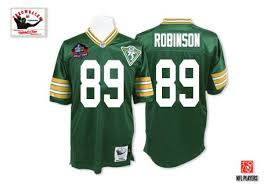 Throwback Packers Nfl Men's Dave 75th Ness Premier Of Mitchell Hall And 89 Jersey Home Fame Bay Robinson Patch Green