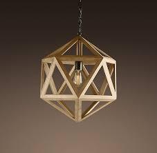 restoration hardware pendant lighting fixtures. wood polyhedron pendant small ceiling restoration hardware lighting fixtures o