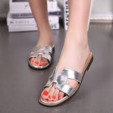 Ladies Orange Flat Shoes Online