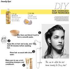 diy easy summer hair mask