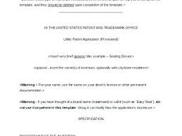 Patent Application Template