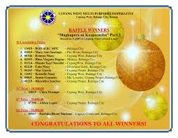 Raffle Draw Application Magkapera Sa Kooperatiba Part 3 Raffle Winners Official Website