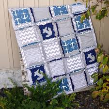 Nautical Baby Bedding Set For Boys Crib Nursery Bed with baby quilt, crib  bumpers,