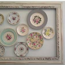 display vintage plates and frames