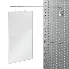 Pegboard Display Stands Uk Locking Display Arm For Aisle Poster 100mm Pegboard Hole Centres 5