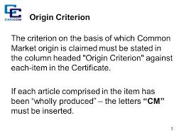 Letter Of Origin Caricom Certificate Of Origin Ppt Download