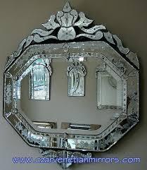 venetian glass mirror oval mirrored sideboard