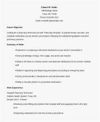 Resume For Pharmacy Technician Template Resume Pharmacist Pharmacist