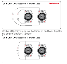 monoblock amp wiring diagram wiring two dual voice coil subs to one mono amp mp3car com click image for larger