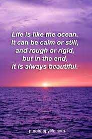 Beautiful Ocean Quotes Best of Life Quote Life Is Like The Ocean It Can Be Calm Or Still And