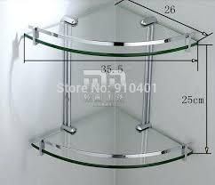 bathroom shelves glass chrome tempered glass corner shelf three shelves bathroom bathroom glass shelf with chrome