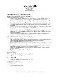 Example Teacher Resume Resume Sample Of A Teacher Ideas Collection ...