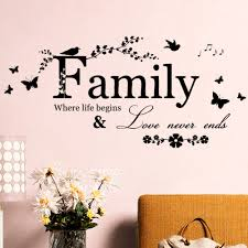 Us 348 Family Love Never Ends Quote Vinyl Wall Decal Wall Lettering Art Words Wall Sticker Home Decor Wedding Decoration In Wall Stickers From Home