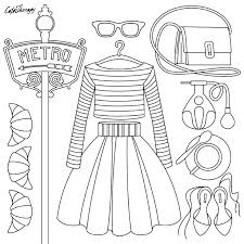 Barbie Coloring Pages Fashion Kids Clothes Chronicles Network
