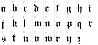 black letter font black letter lowercase preview type stuff pinterest black