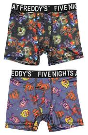 Five <b>Nights</b> at Freddy's Action Underwear 2 Pack Boys <b>Boxer</b> Briefs