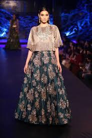 Manish Malhotra Designer Long Skirts Teal Green Lehenga By Manish Malhotra On Thedelhibride Com