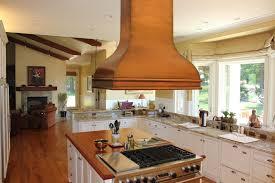Kitchen Island Tops Fabulous Copper Range Hood Style Above Modern Wooden Kitchen