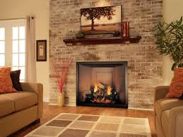 modern living room with brick fireplace. Remodeling Fireplaces Home Ideas. Living Room : With Brick Fireplace Decorating Modern R