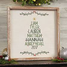 personalized framed wall art family christmas tree 19472 on personalised wall art family tree with family christmas tree 12x12 personalized framed wall art christmas