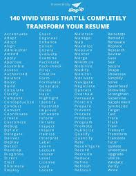Vivid Words To Make Your Resume Stand Out Student Employment