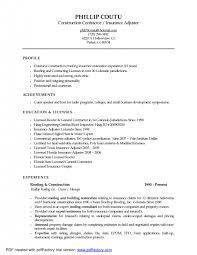 resume sample insurance resume examples resume fascinating insurance adjuster resume pdf hdjinsurance resume examples sample insurance resume