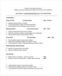 Free Chronological Resume Template Best Free Chronological Resume Template Ateneuarenyencorg