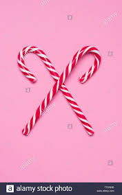 Red White Striped Candy Canes Stockfotos Red White Striped
