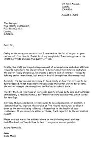 Complaints Letter Template Caseyroberts Co