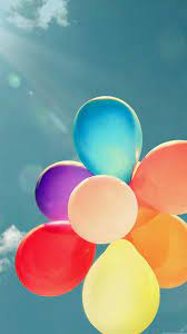Colorful Balloons Bunch Flying High ...