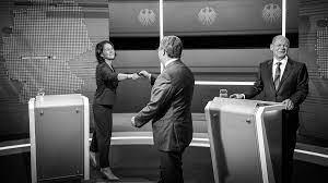 Drei kandidaten fürs kanzleramt trafen sich im tv zum duell. I7r Vfv Djd3qm
