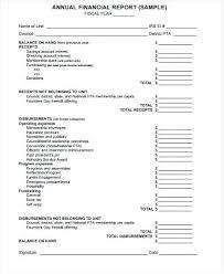 Financial Report Template Fascinating Pta Annual Financial Report Template Inetmedia