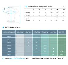 Cycling Jersey Size Chart Size Chart Custom Cycling Wear Cyclingbox Com