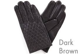 New Men's Quilted Leather Gloves Winter Warm Smart Touch Screen ... & New Men's Quilted Leather Gloves Winter Warm Smart Touch Screen Gentleman  Argyle Adamdwight.com