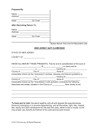 Free New Jersey Quit Claim Deed Form Pdf Word Eforms Free