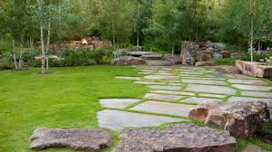 patio stones with grass in between. Delighful Stones Stone Paver Walkway Trimmed With Green Grass Inside Patio Stones In Between S
