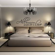 traditional modern bedroom ideas. Contemporary Bedroom Ideas Using Chic Decorative Wall Decals Quotes And Traditional Wrought Iron Chandelier Modern