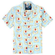 Natty Light Shirt Natty Light Hawaiian Shirt Throwback Edition Shirts Mens