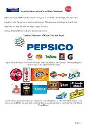 market research on coca cola vs pepsi page 32 33