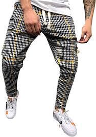 <b>Mens</b> Pants, <b>2019 New</b> Classic Drawstring <b>Plaid</b> Stripe Print Elastic ...