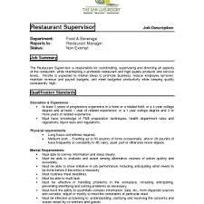 :restaurant manager responsibilities Best Photos Of Restaurant Manager Job  Description Templates Supervisor Duties