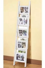 White Magazine Holders Amazon Ladder Photo Frame Magazine Rack 100H WHITE 85