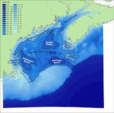 Gulf Of Maine Chart Bathymetry Gulf Of Maine Census