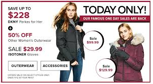 hudson s bay canada are back with new daily deals today only you can short and mid length dkny parkas for only 99 99 and 129 99 respectively