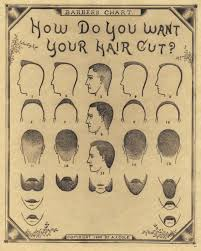 1890 Barber Chart Barber Shop Haircuts Barber Shop